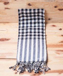 khăn rằn campuchia đen trắng