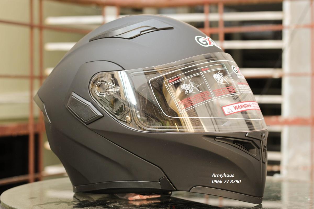 mũ bảo hiểm lật cằm gxt 2 kính