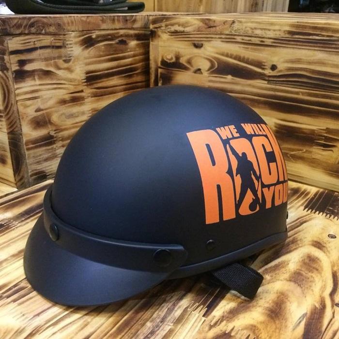 mũ bảo hiểm kính phi công rock