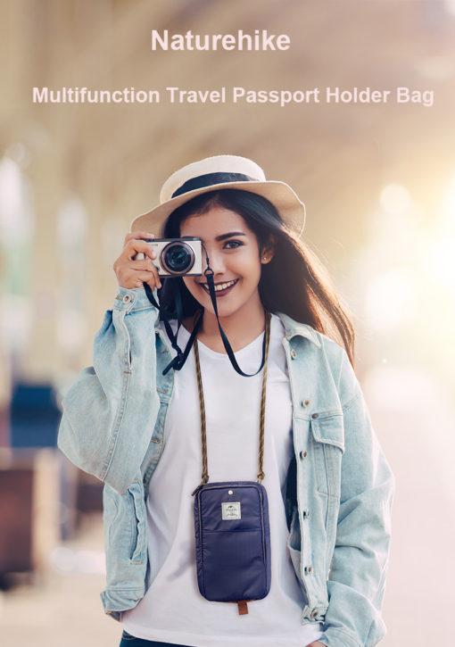 Túi đựng hộ chiếu đeo cổ cho nam nữ Naturehike