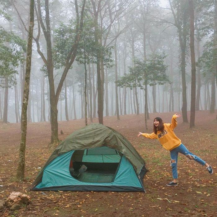 khu cắm trại mới nổi ở Hà Nội