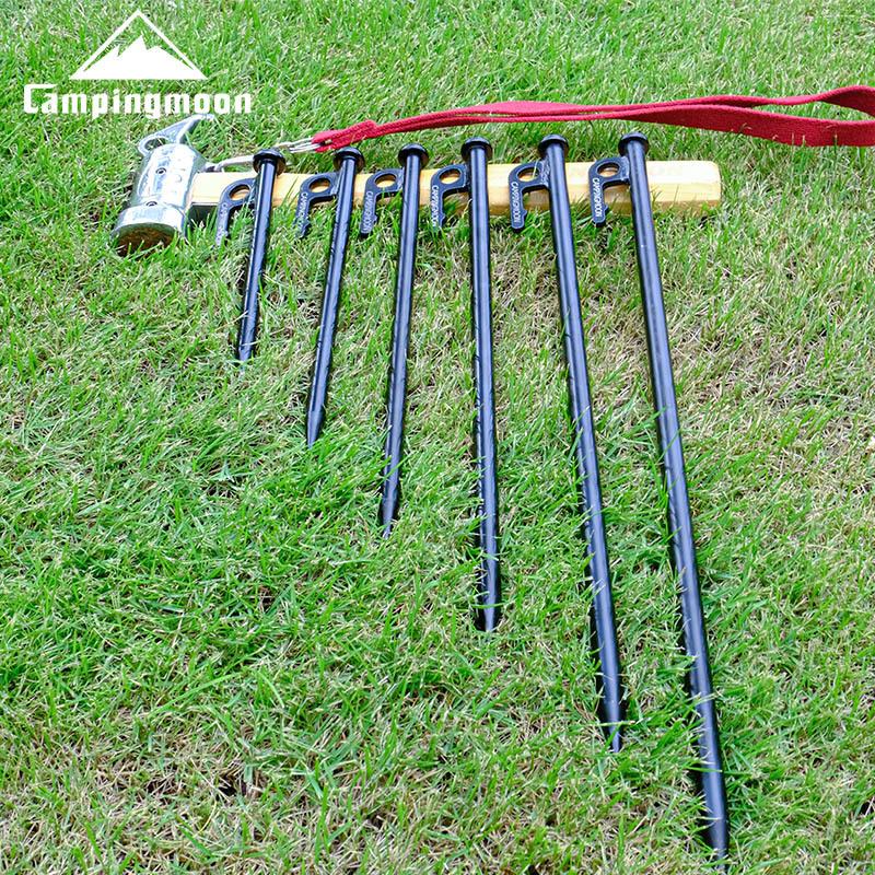Cọc buộc dây lều bằng thép không rỉ Campingmoon T20-8 sơn đen